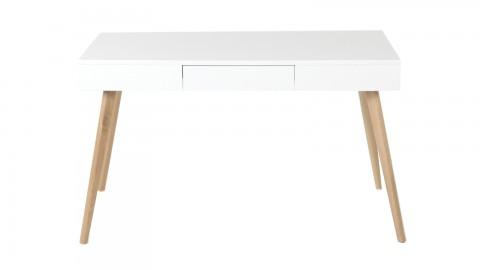 Følke - Bureau Scandinave avec piètements en chêne et tiroir de rangement.