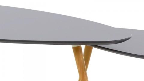 Harøld - Tables basses gigognes Scandinave laquées gris mat