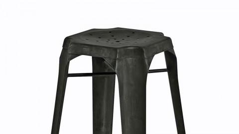 Factø - Lot de 2 tabourets de bar style industriel, métal vieilli