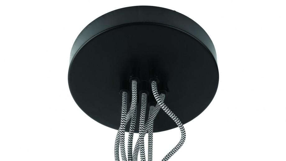 Suspension 7 abats jour noir S - Collection Amazon - Good&Mojo