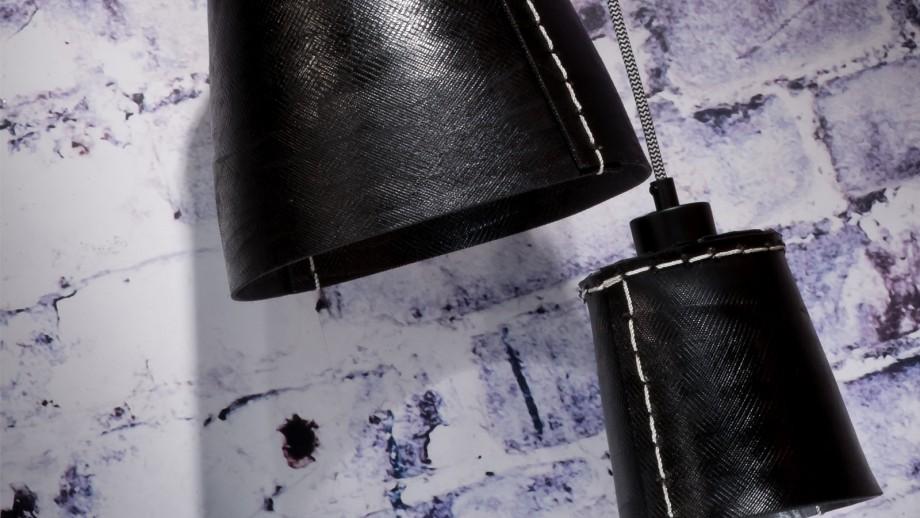 Suspension 1 abat jour noir L - Collection Amazon - Good&Mojo