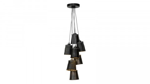Suspension 7 abats jour noir L - Collection Amazon - Good&Mojo