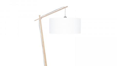Lampadaire en bambou abat jour en lin blanc - Collection Andes - Good&Mojo