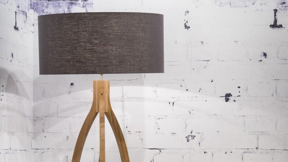 Lampadaire en bambou abat jour en lin gris foncé - Collection Annapurna - Good&Mojo