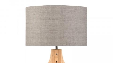 Lampe à poser en bambou abat jour en lin foncé - Collection Annapurna - Good&Mojo