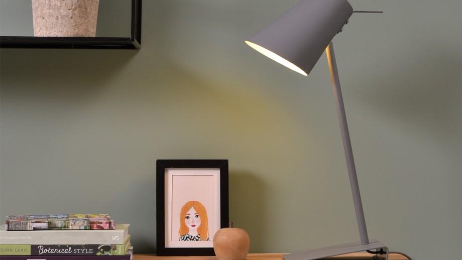 Lampe à poser en fer et gomme gris - Collection Cardiff - It's About Romi