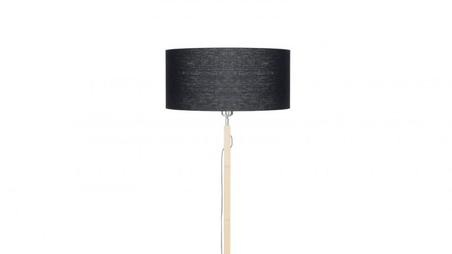 Lampadaire en bambou abat jour en lin noir - Collection Fuji - Good&Mojo