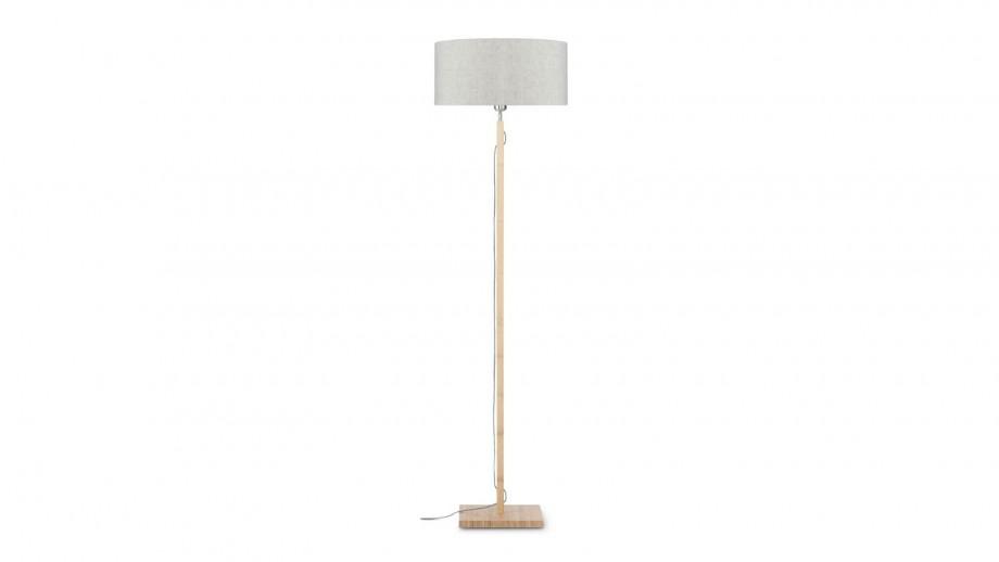 Lampadaire en bambou abat jour en lin clair - Collection Fuji - Good&Mojo