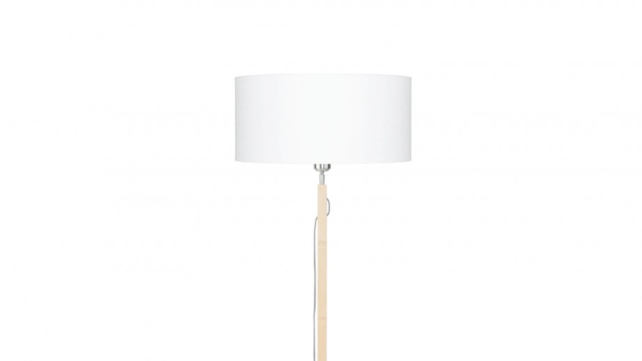 Lampadaire en bambou abat jour en lin blanc - Collection Fuji - Good&Mojo