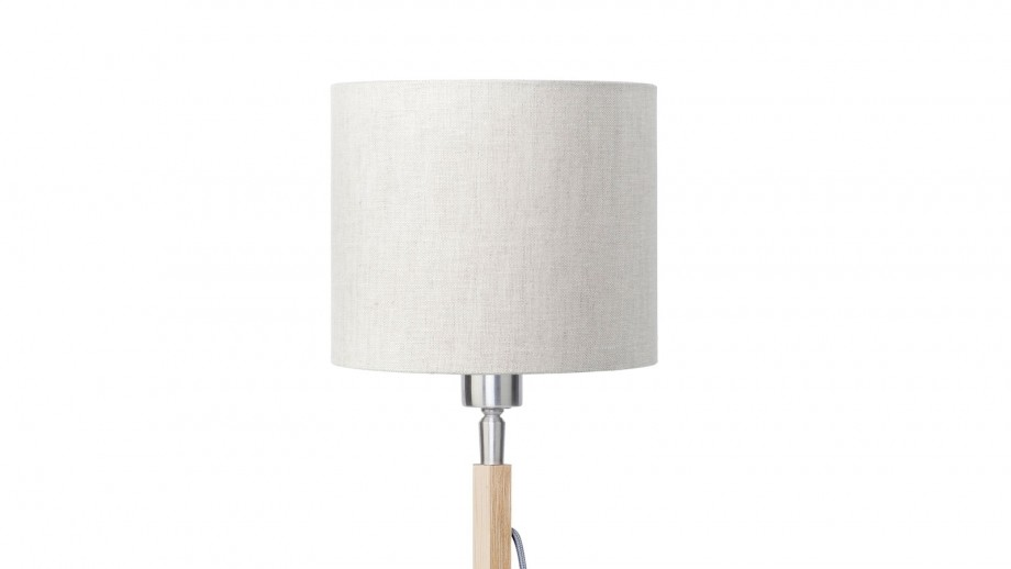 Lampe à poser en bambou abat jour en lin clair - Collection Fuji - Good&Mojo