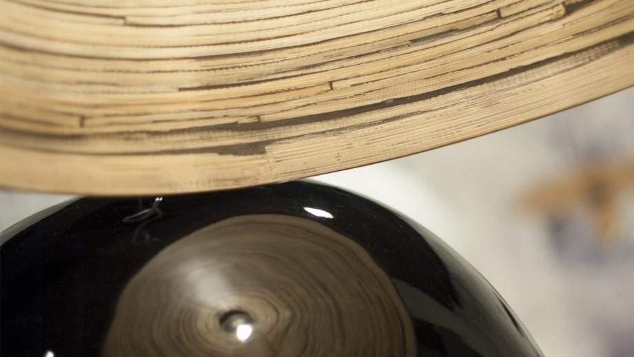 Suspension simple en bambou noir - Collection Halong - Good&Mojo