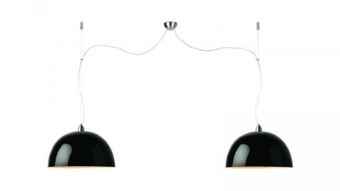 Suspension double en bambou noir - Collection Halong - Good&Mojo