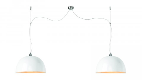 Suspension double en bambou blanc - Collection Halong - Good&Mojo