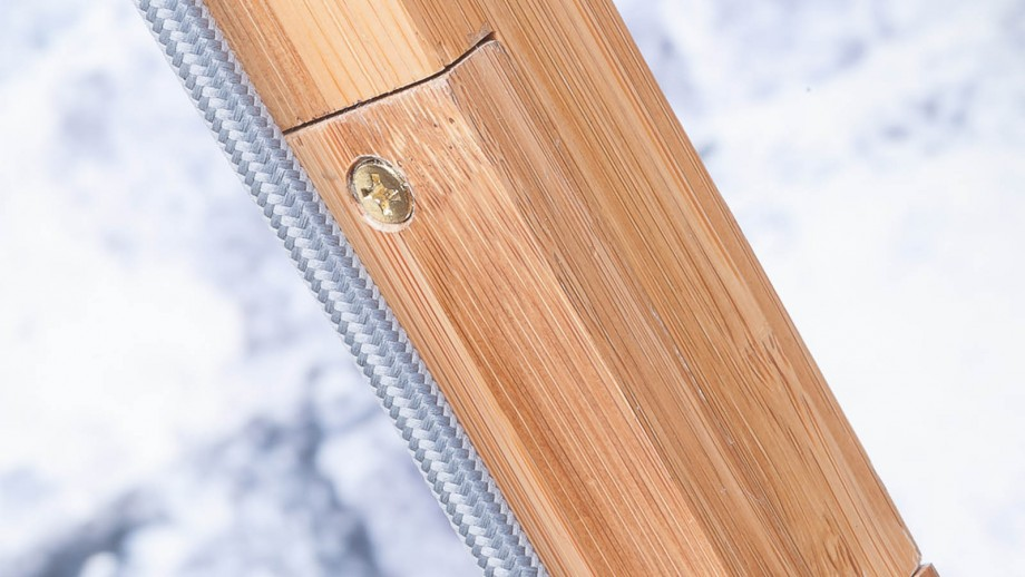 Lampadaire en bambou abat jour en lin noir - Collection Himalaya - Good&Mojo