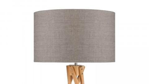 Lampe de table en bambou abat jour en lin foncé - Collection Kilimanjaro - Good&Mojo