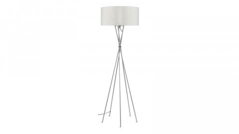 Lampadaire abat jour lin clair - Collection Lima - It's About Romi