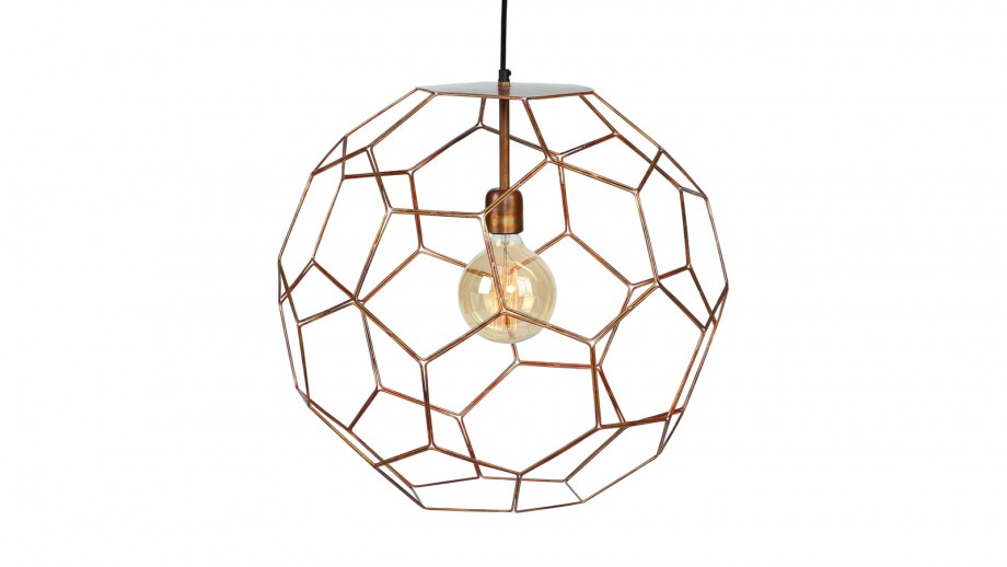 Suspension en fil de fer cuivre L - Collection Marrakesh - It's About Romi