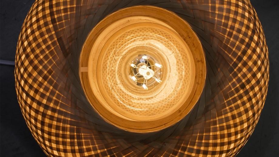 Lampe de table ronde en bambou S - Collection Mekong - Good&Mojo