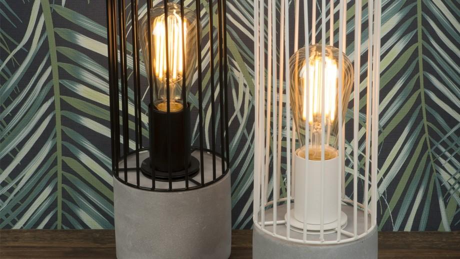 Lampe à poser fil de fer et ciment noir - Collection Memphis - It's About Romi