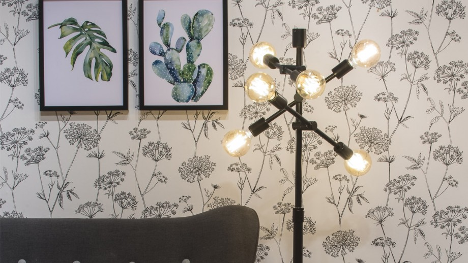 Lampadaire en fer noir 6 bras - Collection Nashville - It's About Romi