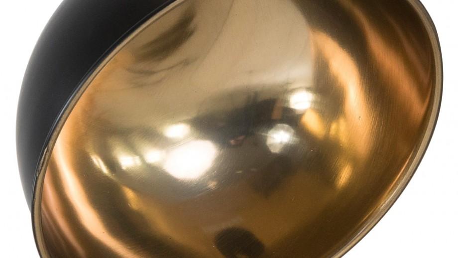 Jønas - Suspension métal noir et cuivre, style Industriel, 23 cm