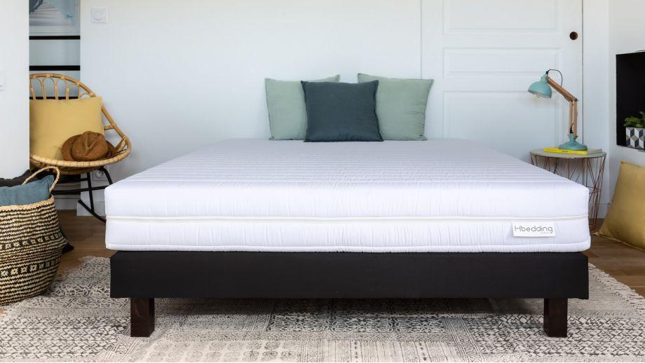 Matelas mousse haute densité 90x190 Ergo Plus Hbedding + 1 oreiller à mémoire de forme 60x60cm