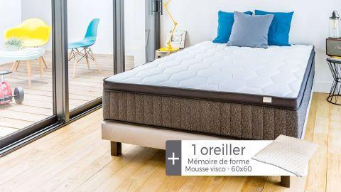 Matelas Mémoire de forme 90x190 Memo Royal Hbedding + 1 oreiller à mémoire de forme 60x60cm.