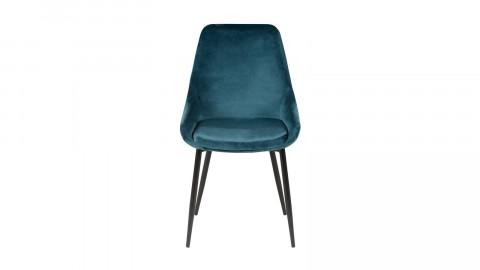 Lot de 2 chaises repas en velours bleu - Collection Bari - Zago
