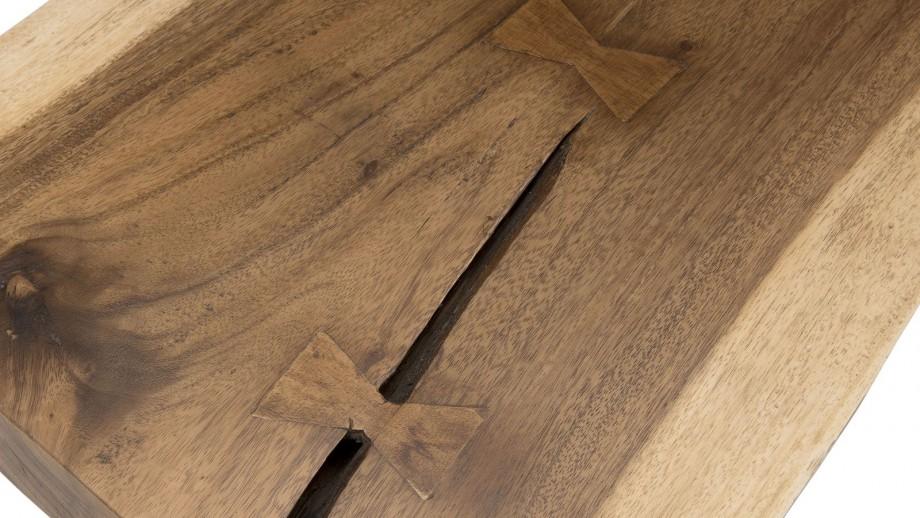 Banc en bois piètement épingles en métal noir - Collection Clara