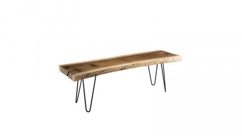 Banc en bois piètement épingles en métal noir - Collection Mia