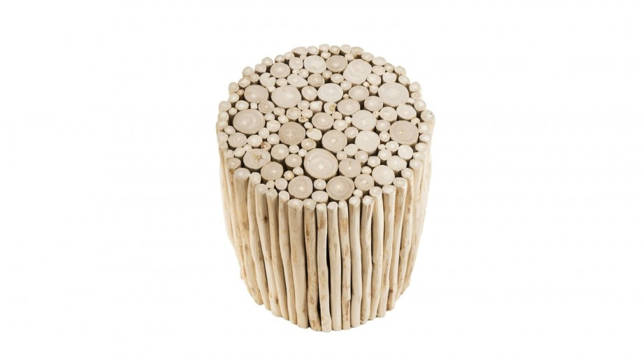 Table d'appoint ronde en petites branches - Collection Clara