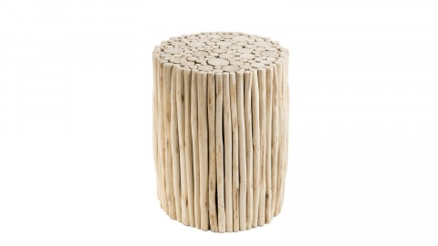 Table d'appoint ronde en petites branches - Collection Mia