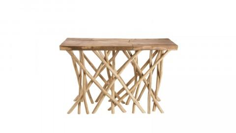 Console en teck piètement en bois flotté - Collection Mia