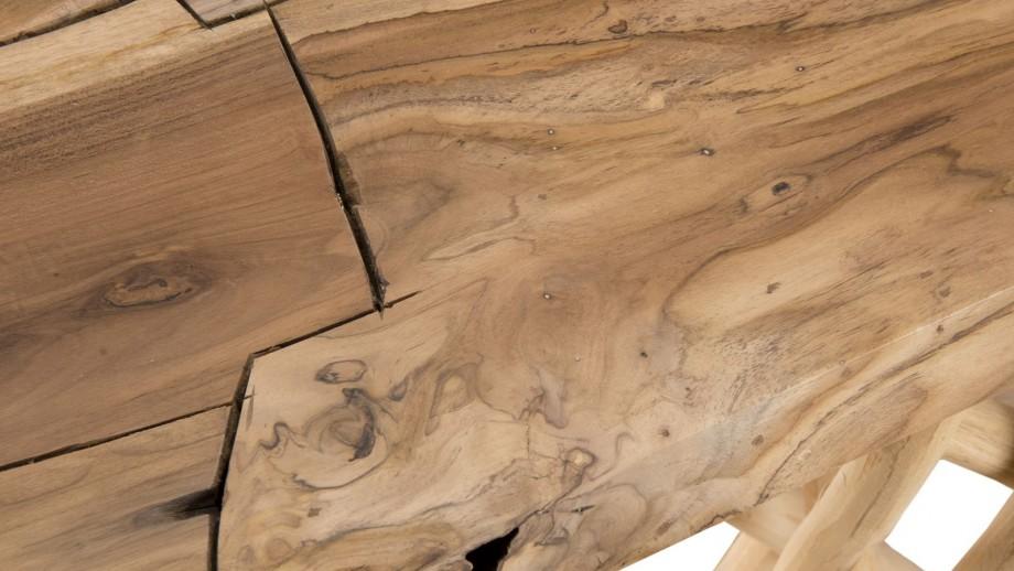 Console en teck piètement en bois flotté - Collection Clara