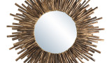 Miroir rond soleil en branches - Collection Mia