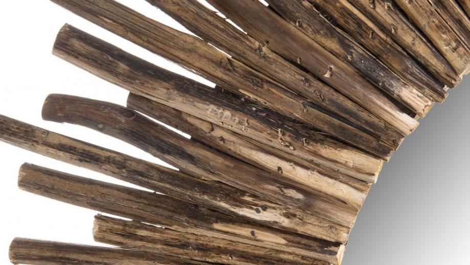 Miroir rond soleil en branches - Collection Clara