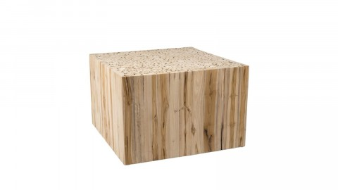 Table basse carrée en branches teck - Collection Clara