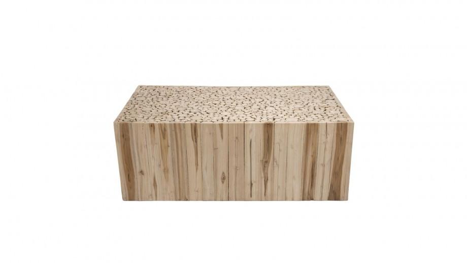 Table basse rectangle en branches teck - Collection Clara