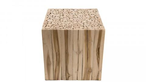 Bout de canapé carré en branche teck - Collection Clara