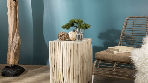 Table d'appoint carré en petites branches - Collection Mia