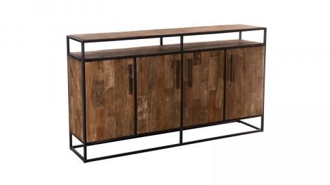 Buffet 4 portes en teck recyclé et métal - Collection Athena