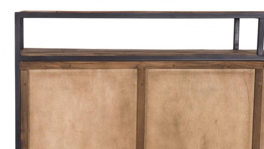 Buffet 4 portes en teck recyclé et métal - Collection Sixtine