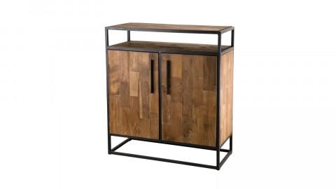 Buffet 2 portes en teck recyclé et métal - Collection Athena