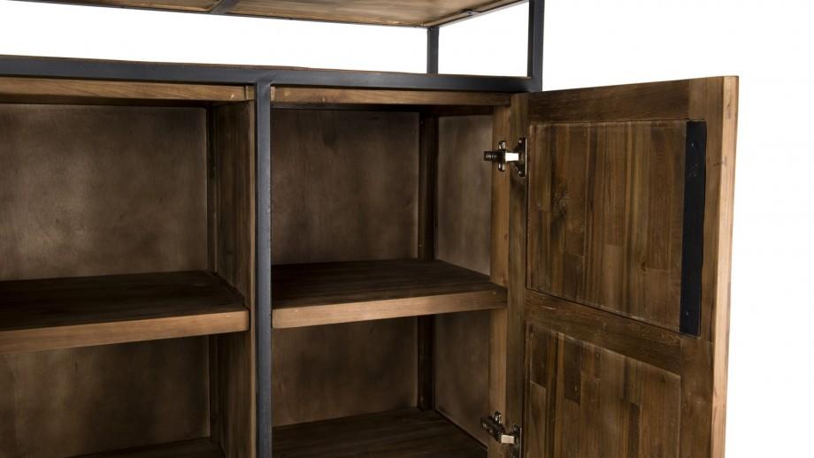 Buffet 2 portes en teck recyclé et métal - Collection Sixtine