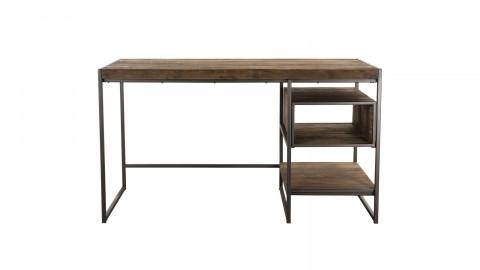 Bureau en teck recyclé acacia et métal - Collection Athena