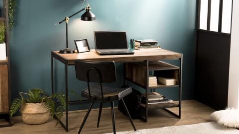 Bureau en teck recyclé acacia et métal - Collection Sixtine