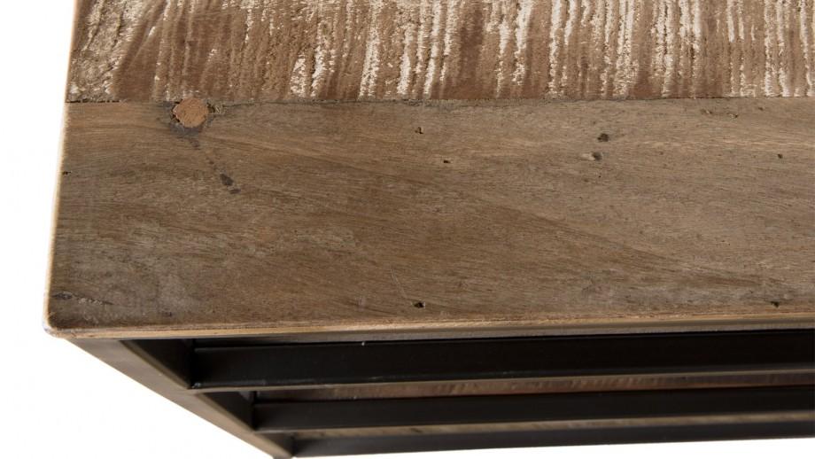 Console 4 niveaux en teck recyclé acacia et métal - Collection Sixtine