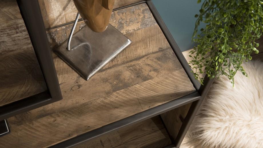 Etagère 6 niveaux en teck recyclé acacia et métal - Collection Sixtine