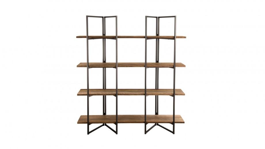 Etagère 4 niveaux en teck recyclé acacia et métal - Collection Sixtine
