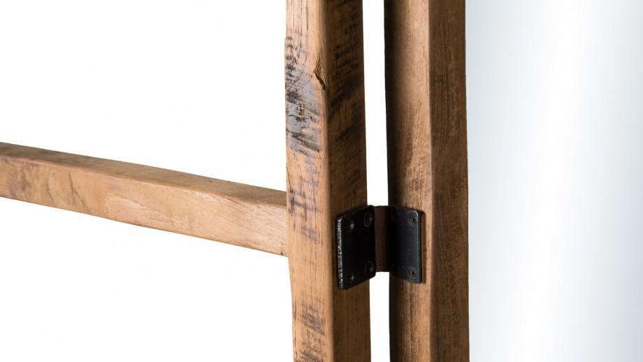 Portemanteau pliable 4 ventaux en teck recyclé - Collection Sixtine